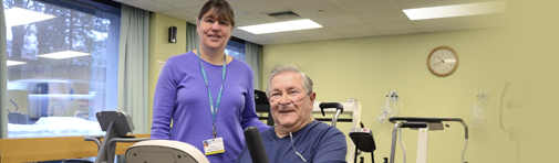 pulmonary rehabilitation center at Boston area hospital