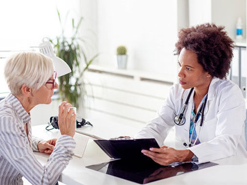 A patient and her doctor are working together to determine the best treatment plan