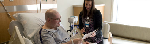 Helping a patient transition to home at Boston area hospital