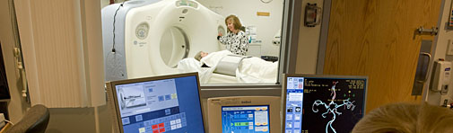 CT scan at hospital near Boston