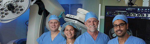Vascular Program physicians in new, state-of-the-art hybrid operating room
